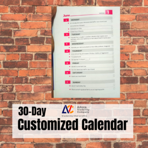 Customized 30-Day Content Calendar for Social Media
