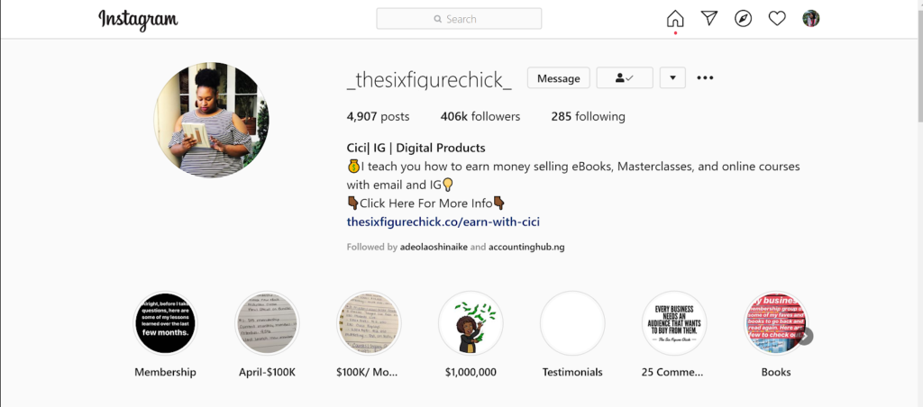 Instagram marketing - Six Figure Chick